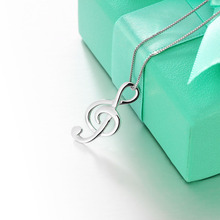 925 Silver Musical Note Necklace