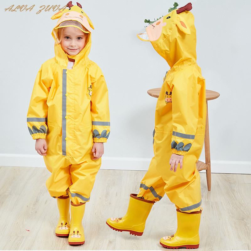 Waterproof Overalls Jumpsuit Rain-Pants Baby-Boys-Girls Kids New Fashion 3-8yrs Clj016