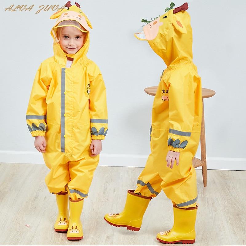 Kids Waterproof Rain Pants New 2021 Waterproof Overalls 3-8Yrs Baby Boys Girls Jumpsuit Fashion Children Raincoat Clj016 1