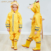 子供防水レインパンツ新2020防水オーバーオール3 8Yrsベビー少年少女ジャンプスーツファッション子供レインコートClj016