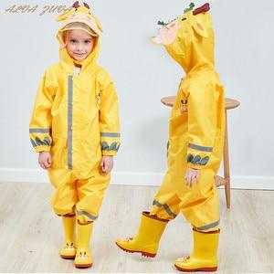 Image 1 - Kids Waterproof Rain Pants New 2020 Waterproof Overalls 3 8Yrs Baby Boys Girls Jumpsuit Fashion Children Raincoat Clj016