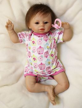 48CM silicone reborn dolls super Adorable newborn baby dolls for children gift girls toys sleeping dolls bebe alive reborn