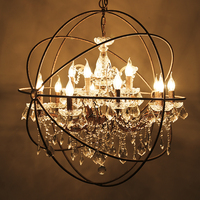 Industrial retro chandelier For Coffee Shop Bar Kitchen Birds Cage chandelier Maria theresa crystal chandelier Lighting Fixtures