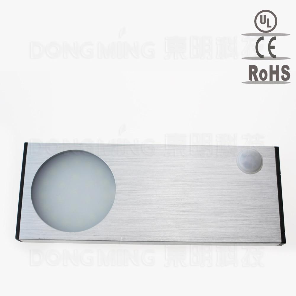 5pcs Wireless 3528 3.7V 1.5W Li-ion Battery LED PIR infrared motion sensor Detector Cabinet light panel cupboard ceiling lamp be 4r5000pg6dc sensor mr li