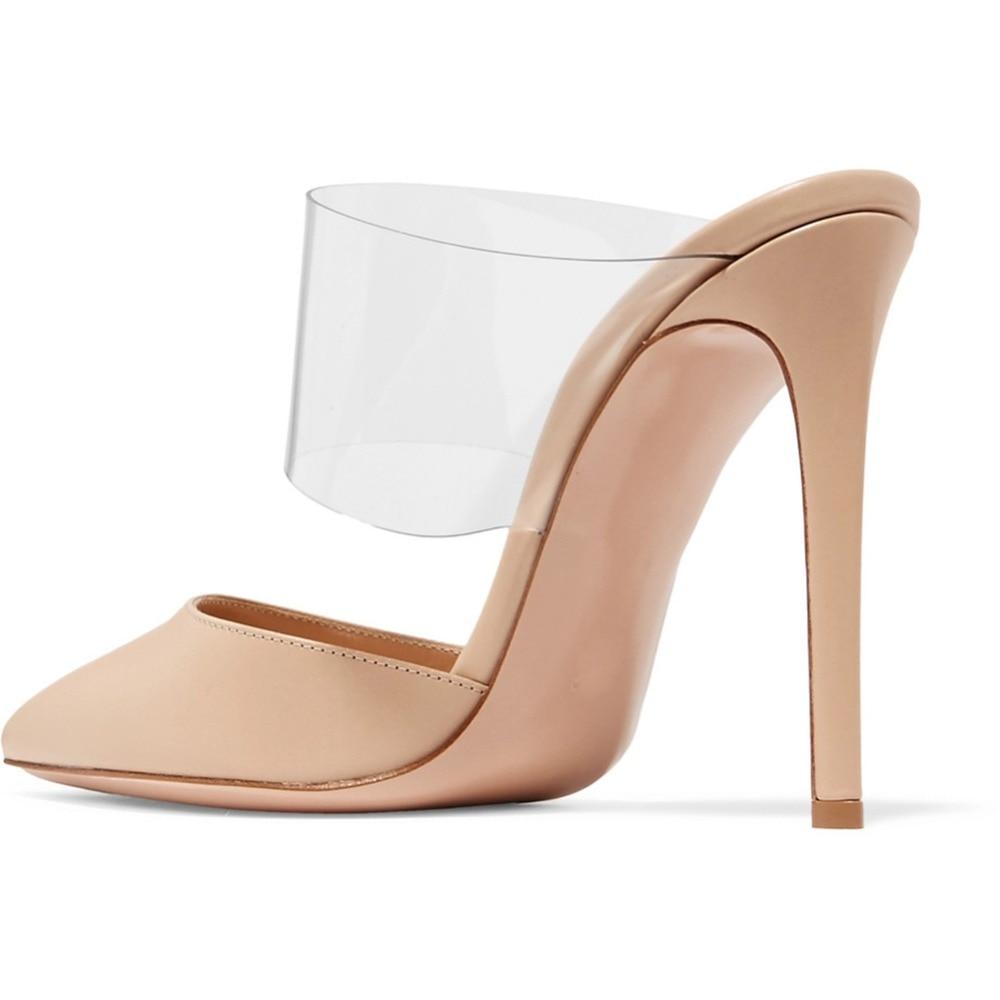 Sapato de Bico fino Salto Alto Mulas
