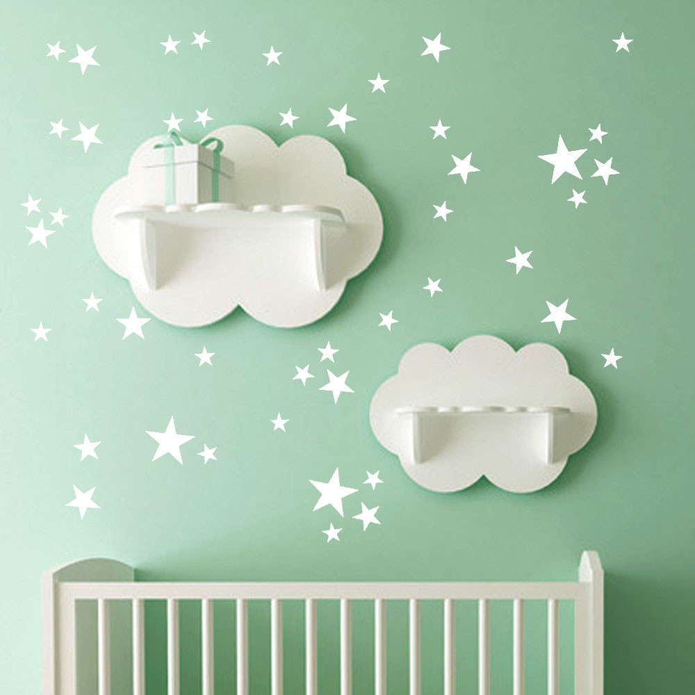 38Pcs Star Removable Vinyl Mural Home Room Decor Kids Rooms Wall Stickers DIY Home Decor Wall Stickers Children Room Adesivos