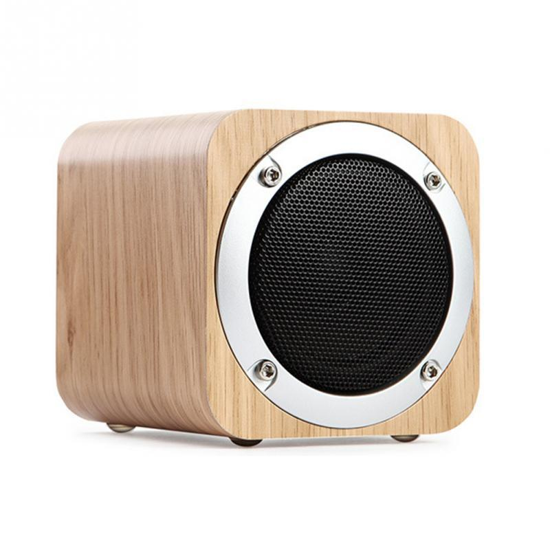Shinco Square wooden bluetooth font b speakers b font portable wood audio card subwoofer gift desktop