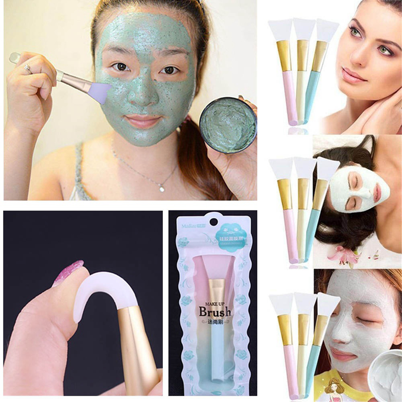 цена Silicone Facial Mask Makeup Brushes Face Skin Care Mixing Mud Brush Beauty Applicator Make up Soft Silica Gel Makeup Brush Tool
