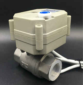 """2/3/5/7 Wires DC12V/24V Stainless Steel 3/4\"""" Electric Valve TF20-S2-B DN20 Full Port Motorized Valve With Manual Override"""
