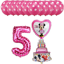 13pcs Kids 1 2 3 4 5 6 Years Old Birthday Foil Balloons Set Cake Number Helium Baby Shower Decoration Supplies