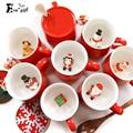 Новый Рождественский Керамическая кружка Творческий Трехмерная животное в чашку 400 мл воды молоко кружка с ложкой чашка кофе подарок на новый год