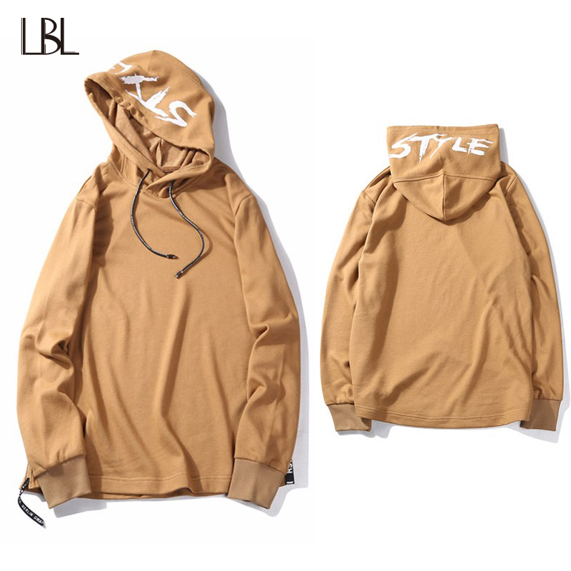 Fashion Hoodie Men Streetwear Hip Hop Casual Hooded Letter Print Hoody Long Sleeve Mens Hoodies and Sweatshirts Plus Size S-XXL