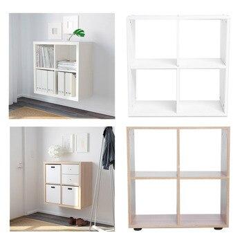 4 Grids  Rack Bookcase Step Storage Cube Display Shelf Modern Wooden Bookshelf Bookcase Home Office Decor Полка