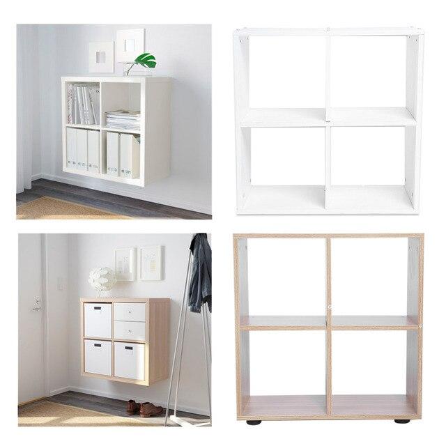 4 grids rack boekenkast stap opslag kubus display plank moderne houten boekenplank boekenkast thuis office decor