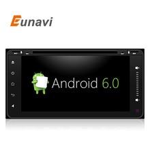 Eunavi Android 6.0 Quad 4 ядра dvd-плеер автомобиля для Toyota Hilux Vios старый Camry Prado RAV4 Prado 2003- 2008 WI-FI Радио стерео GPS