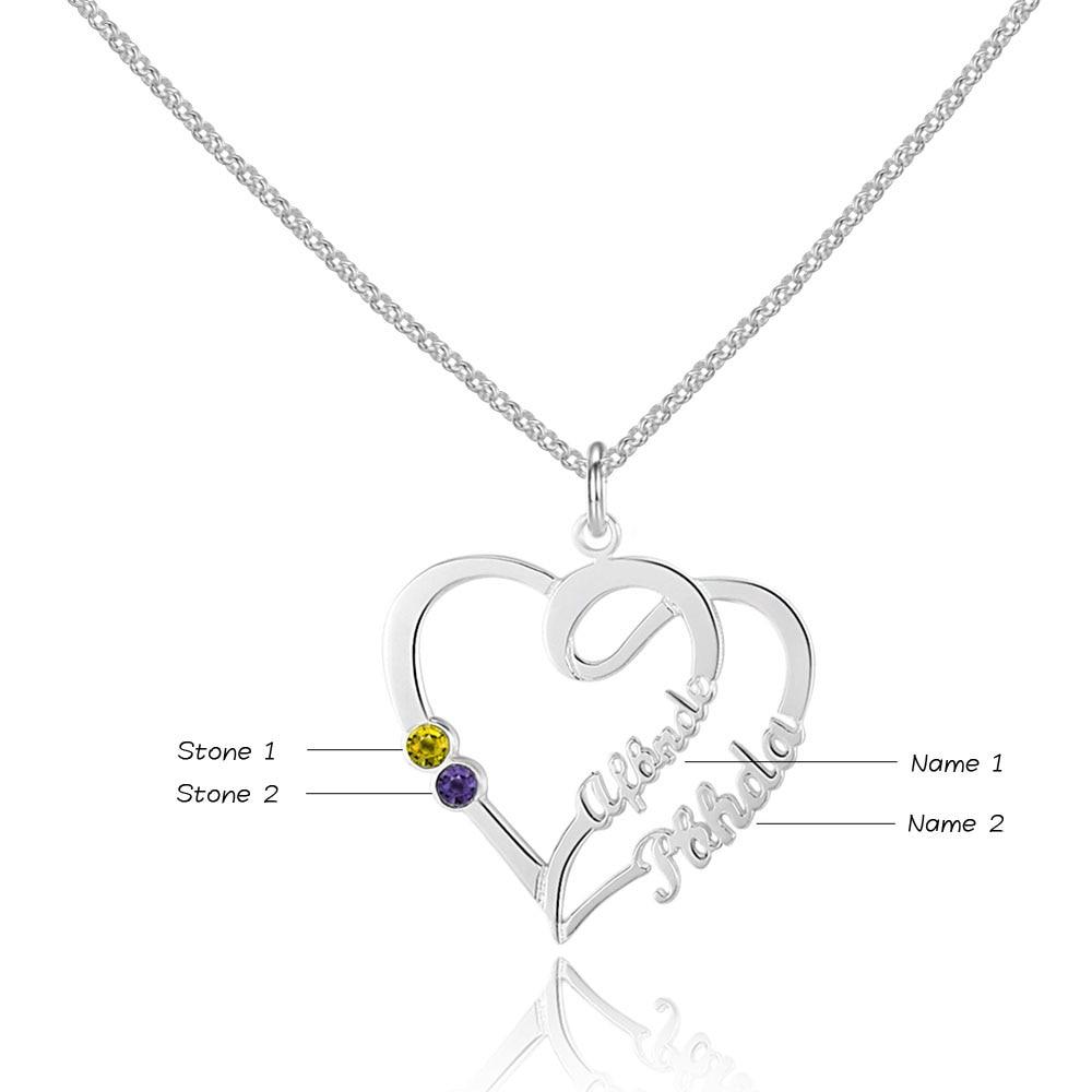 925 Sterling Silver Heart Collier Bijoux Nom personnalisé, Graver - Bijoux - Photo 2