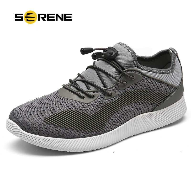 SERENE Brand 2017 New Men 5 Colors Casual Shoes Spring Autumn Size38-44 Fashion Style Elastic Band Breathable Male Footwear 9181 casual shoes men breathable new fashion men dress shoes good quality working shoes size 38 44 aa30064