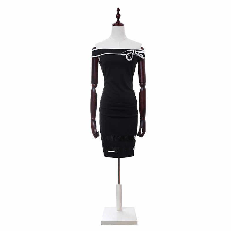 H Han queen/винтажное расклешенное платье с расклешенными краями и бантом на плече; элегантное вечернее Повседневное платье-карандаш для работы для женщин