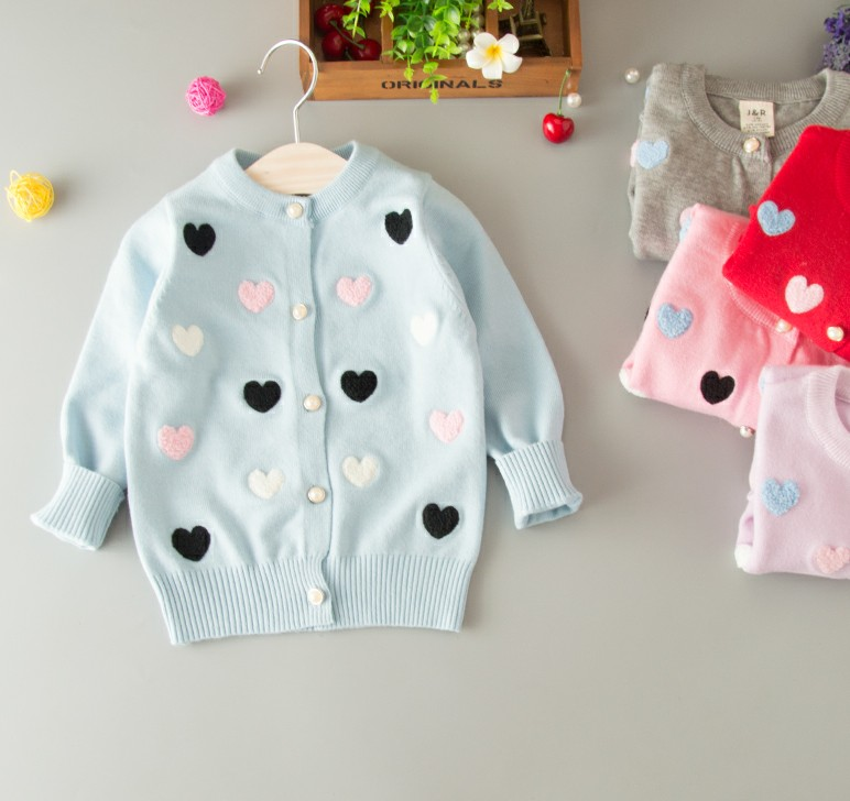 все цены на 2018 Spring and autumn new baby girl cardigan sweaters baby lovely sweater kids girl long sleeve sweaters