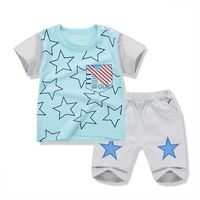 Baby Boy Clothes 2017 New Summer Style Cartoon Casual Cotton Baby Clothing Kids Suit 2pieces Shirt