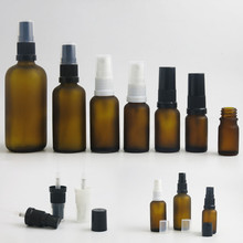 12 x Refillable Syrup Mist Sprayer Bottle Amber Glass Perfume Containers for Cream Using 5ml 10ml 15ml 20ml 30ml 50ml 100ml