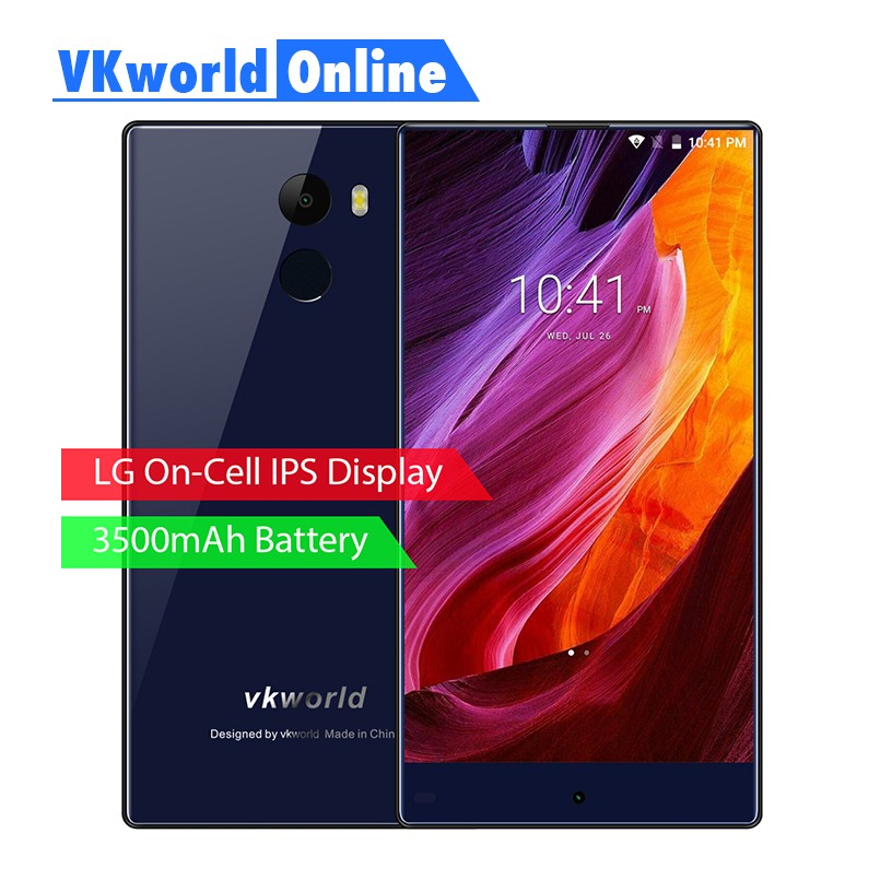 VKworld MIX 4G Mobile Phone 5.5 inch Full Screen 2GB RAM 16GB ROM Quad Core Dual SIM Android 7.0 Smart Cell Phones OTA update