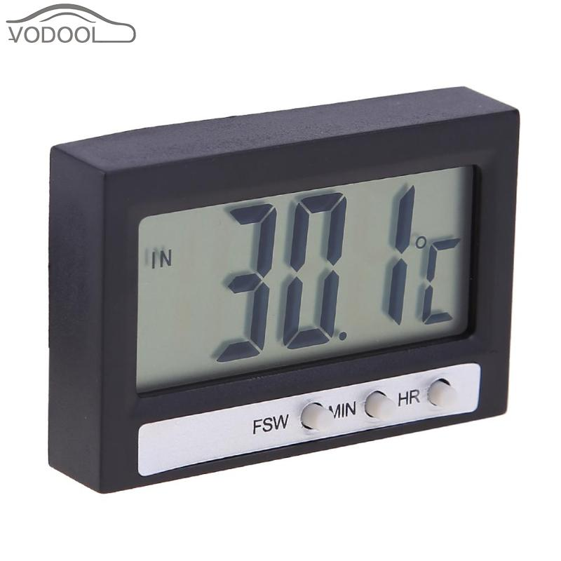 Electronic Digital LCD Car Clock High Precision Household Th