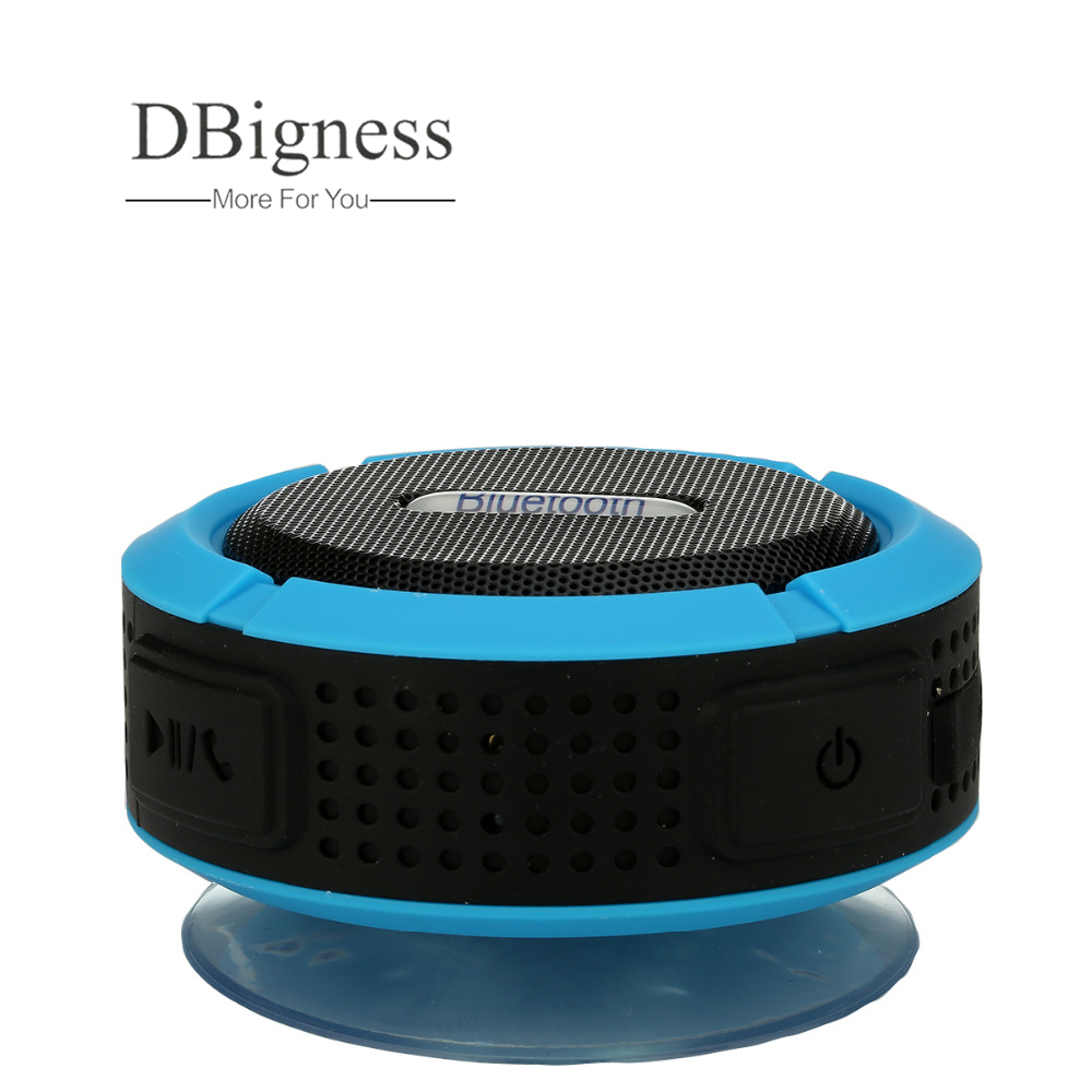 US $19 14 |Dbigness Waterproof Bluetooth Speaker with Hook Suction  Handsfree Speaker Portable Wireless Speaker for iPhone Samsung Xiaomi-in  Portable