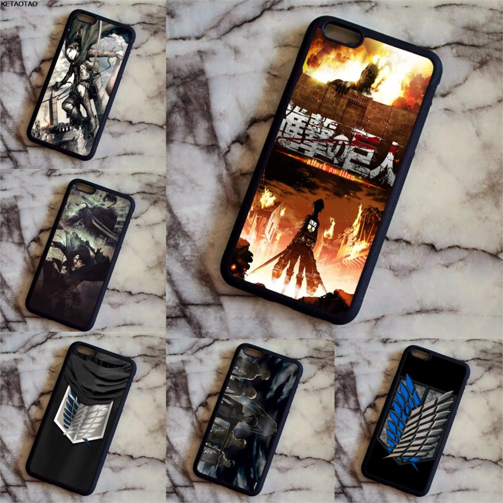 KETAOTAO Japanese animation Attack on Titan Phone Cases for Samsung S3 4 5 6 7 8 9 NOTE 3 4 5 7 8 Case Soft TPU Rubber Silicone