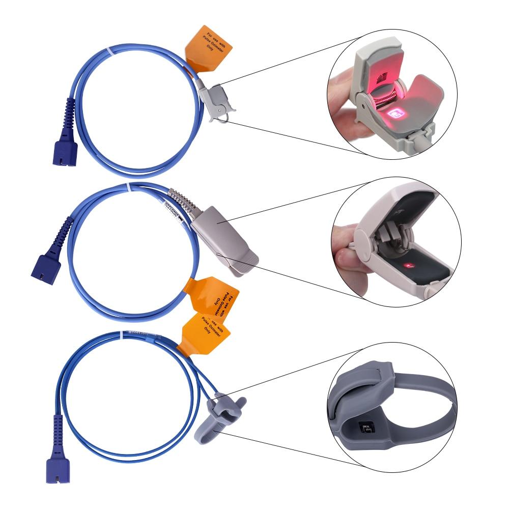 Yonker медицинский ручной пульсоксиметр с кончиком пальца, кислородный пульсометр, монитор пульса для взрослых, новорожденных, новорожденных,... - 4