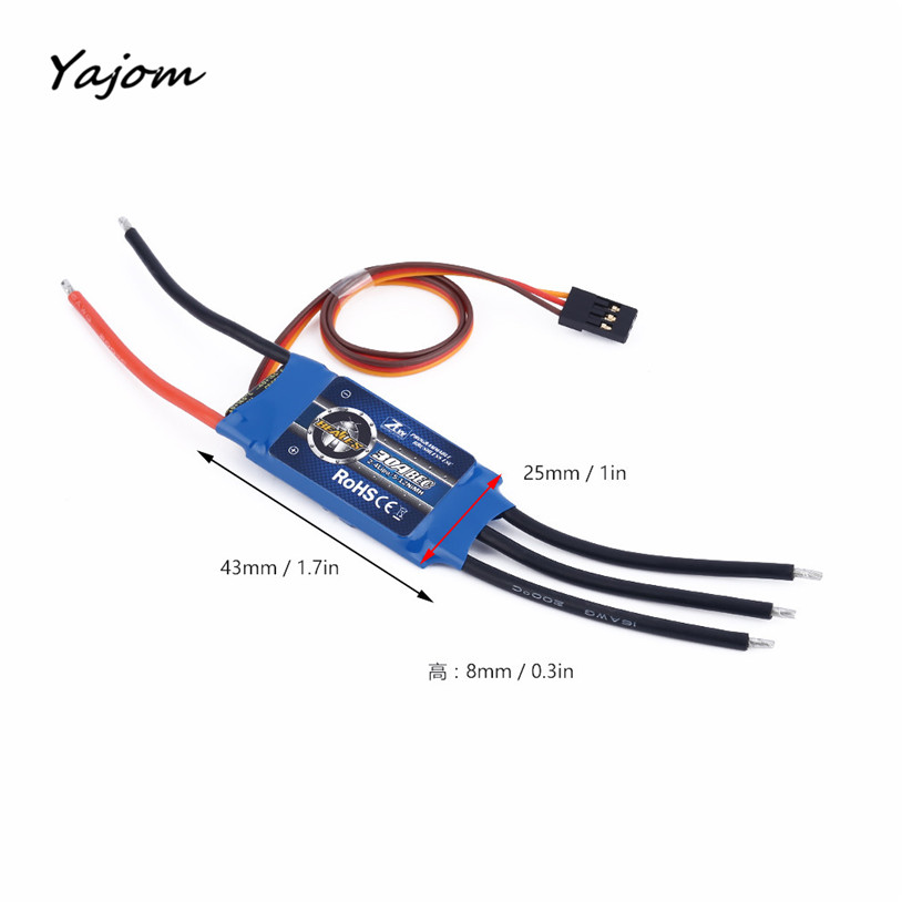 Free for shipping AL 30A ESC 5V/3A BEC for 400-450 Helicopters Or Quad-Rotor Multi RC Helicopter Brand New High Quality May 10