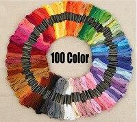 100 Renk Iplik Dikiş & Kumaş DIY nakış el yapımı iplik polyester Set toptan FG272