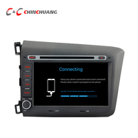 1024 600 Quad Core Android 5 1 1 Car DVD Player GPS For Honda Civic 2012