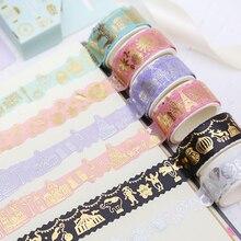 2pcs/lot Paris life paper tape DIY decorative scrapbook masking tape washi tape stationery office adhesive tape label sticker все цены