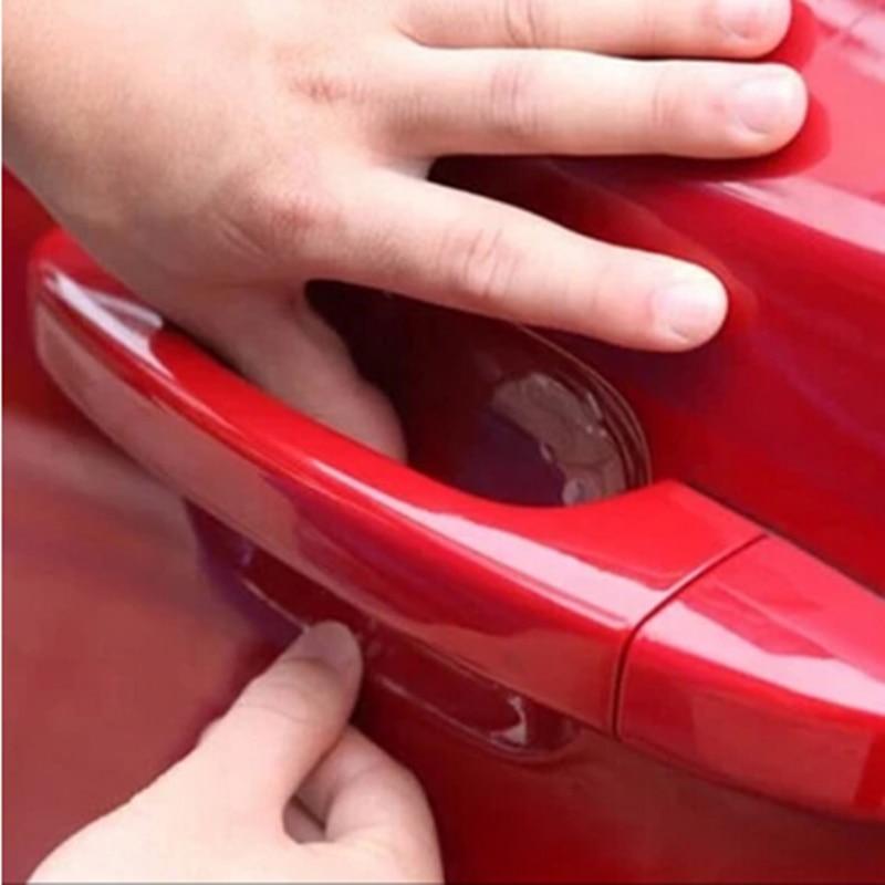 4 шт./компл. двери автомобиля стикер устойчивые к царапинам крышка украшения тела авто ручка Защитная пленка внешние аксессуары авто-Стайли...