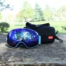 With Box Ski Goggles Double layer Anti fog UV big spheri ski Eyewear Men Women Ski Goggles Snowboard mask Protection Glasses