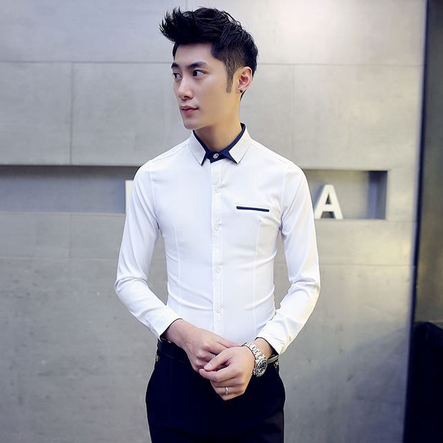 7abb725424 Camisa Masculina Men Shirt 2019 Autumn New Long Sleeve Mens Clothing Slim  Fit Plus Size Casual