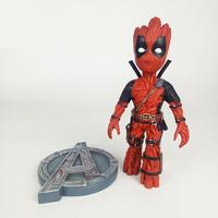 Marvel Avengers Galaxy Guard Groot Turned to Deadpool Super Heroes Action Figure Toy PVC Modle Doll For Boys Children Kids Gifts