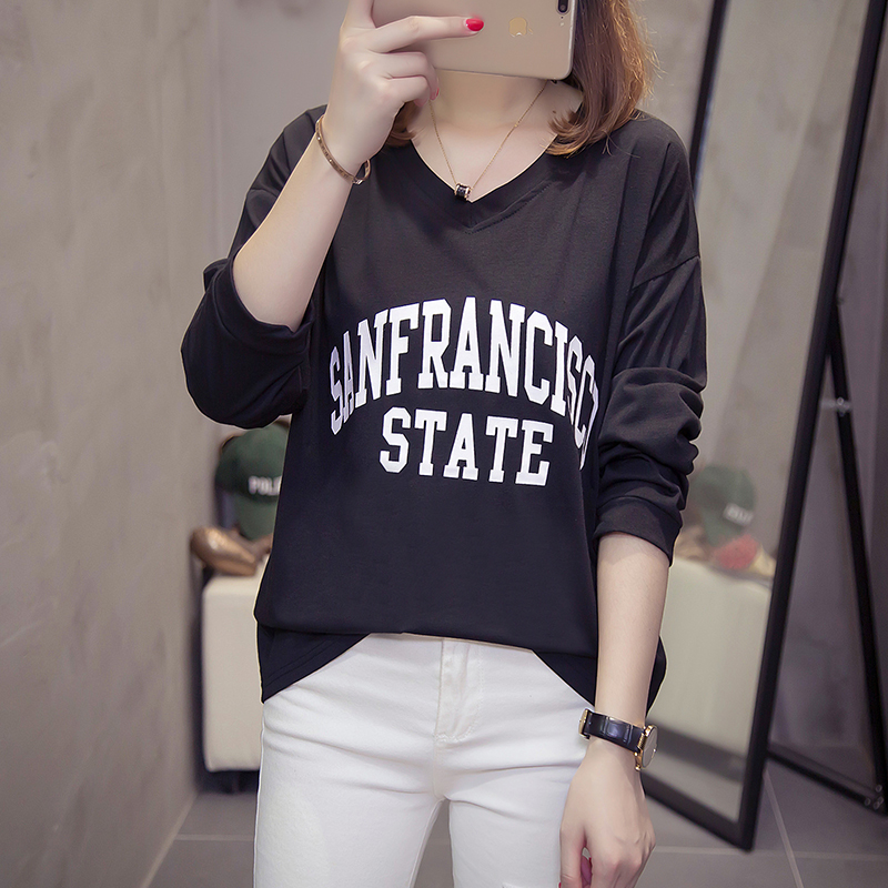 Wholesale Price 2018 Autumn Long Sleeve Shirt Women T