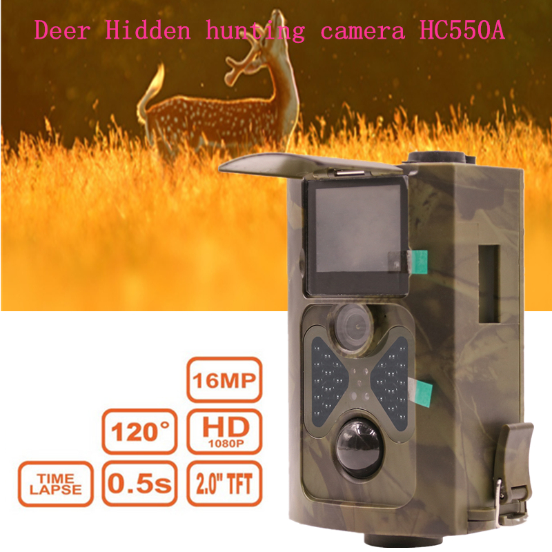 Deer Forest Scouting Wildlife hunting camera trail HC550A 16mp photo traps solar panel charger Ghost Time Laser foto thermocams