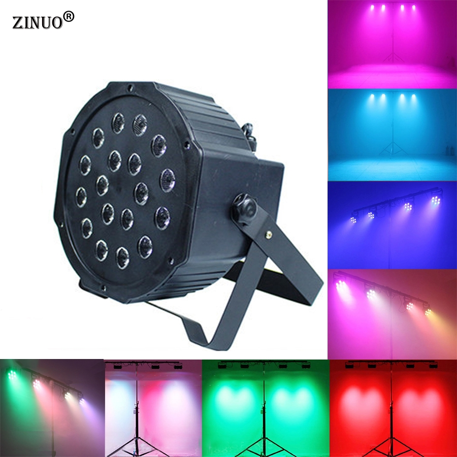 ZINUOb 18W PAR RGB LED DMX Stage Lights LED Stage DMX512 Wash Dimming Strobe Lighting Effect Lights for Disco DJ Party KTV Show