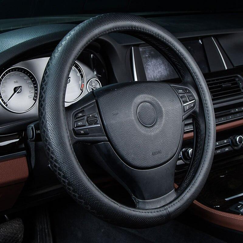 car steering wheel cover genuine leather auto accessories for Audi A4 B5 B6 B7 B8 A5 A6 C5 C6 C7 allroad Avant Q3 Q5 Q7