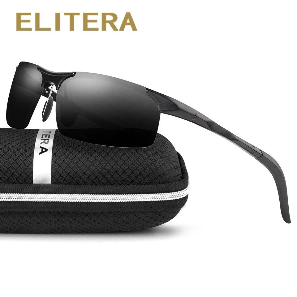 ELITERA Aluminium Et De Magnésium Polarisées lunettes de Soleil Hommes Pilote Miroir lunettes de Soleil De Pêche Mâle Femelle En Plein Air Lunettes De Sport Pour Hommes