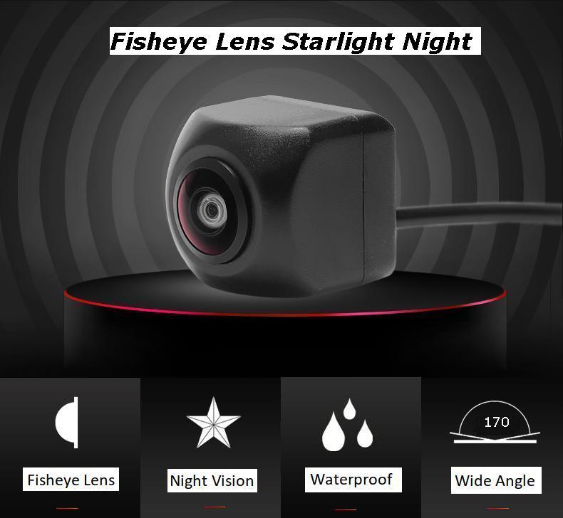 HD cámara de visión trasera de coche 170 grados de ángulo 14