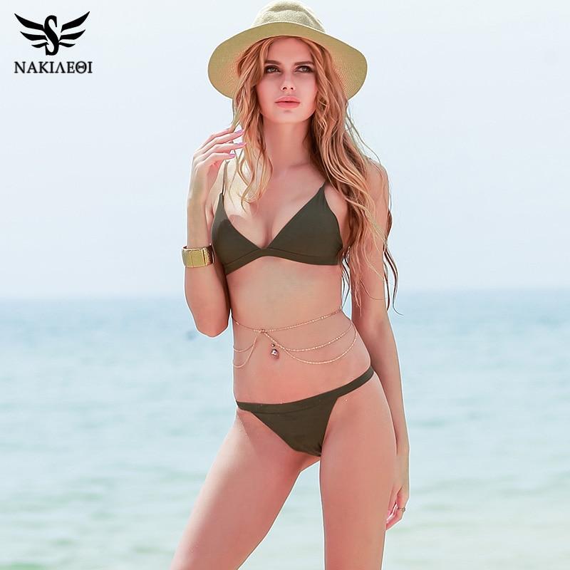 NAKIAEOI Sexy Micro Bikini Swimwear Women Swimsuit 2019 New Halter Brazilian Bikini Set Beach Bathing Suits Swim Wear Biquini 4