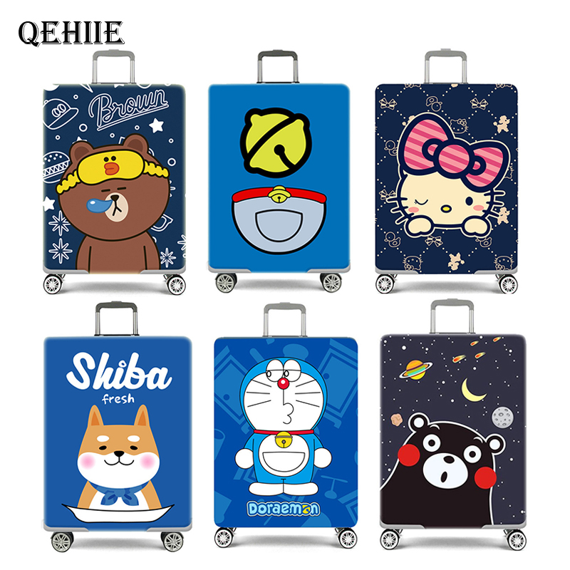 New Cute Anime Luggage Cover Travel Suitcase Elastic Protection Cover2019 Travel Essential Accessories For 18 To 32 Inch Trolley