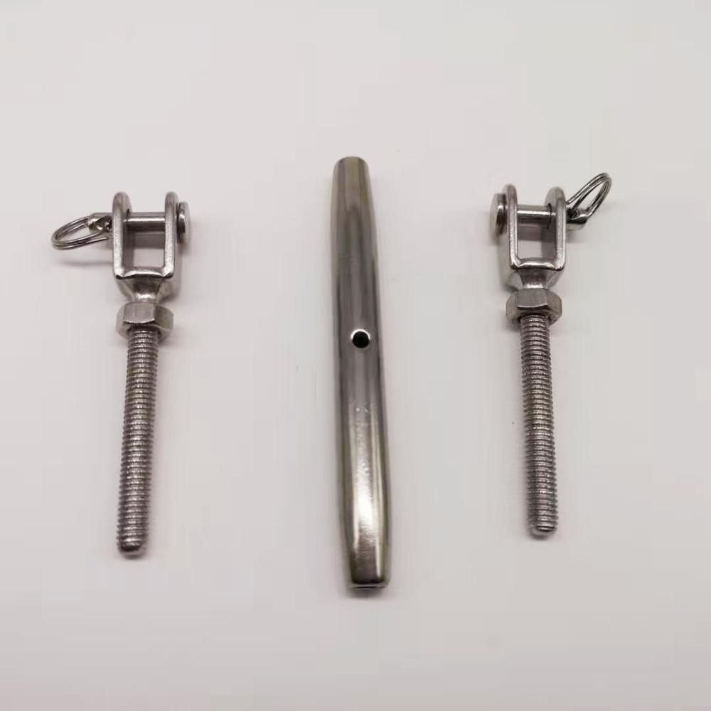 1pcs M22 Stainless Steel 304 Jaw/Jaw Turnbuckle Tensioner