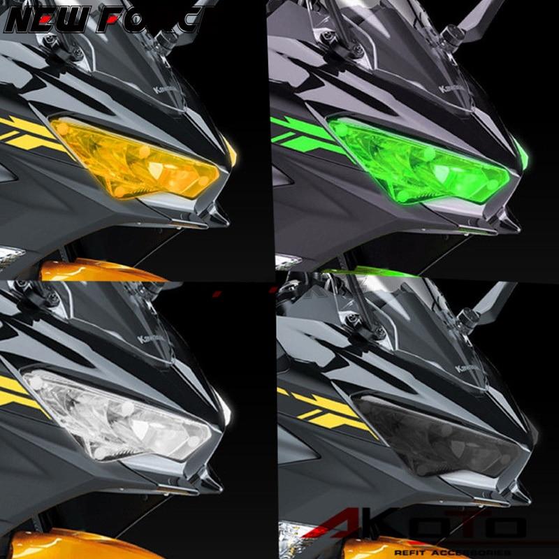 For KAWASAKI NINJA400 NINJA 400 2018 Motorcycle Accessories Acrylic Headlight Protector Cover Screen Lens