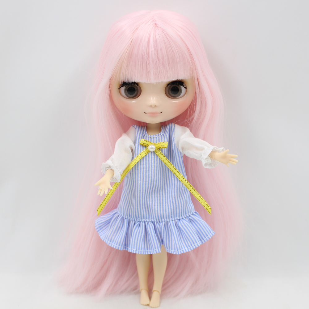 Nude Factory Middie Blyth doll Series No 210BL1096 Pink hair with bangs Matte face Neo