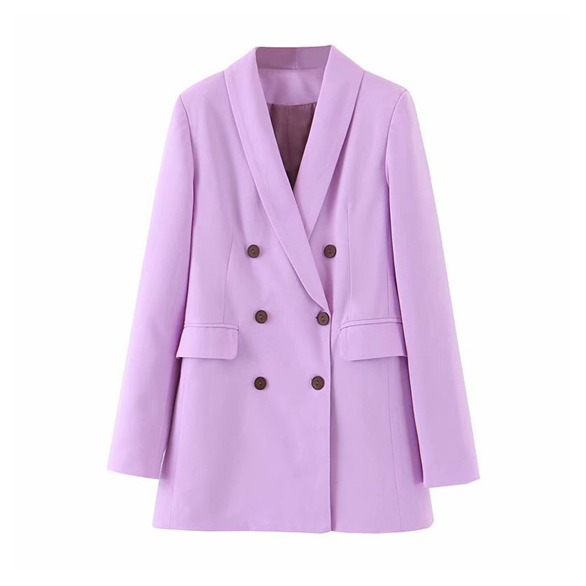 2019 Fashion Women Violet Blazer Long Sleeve Female Blazer Office Ladies New Arrival 2019 Autumn Outwear
